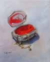 "Silver Box 8"" x 10"" Oil on canvas"