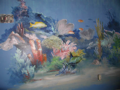 Murals under the sea for Coral reef mural