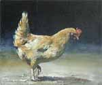 Acrylic on Panel - Hen