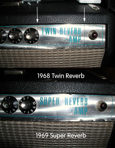 1968 Vs 1969 Fender Faceplates Interesting